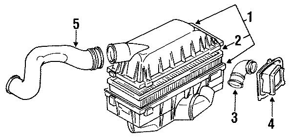 1991 volkswagen jetta air filter  airfilter  filter