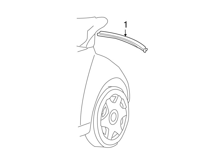 2004 volkswagen beetle rear molding  convertible   body