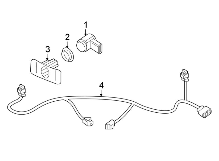2017 volkswagen beetle convertible bracket  sensor  mount