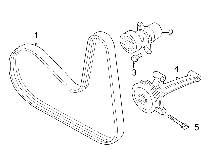2013 Volkswagen Jetta Gli Accessory Drive Belt Idler Assembly  Pulley  Code  Convertible
