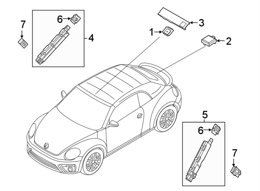 2018 volkswagen beetle convertible antenna amplifier nut  antenna booster nut  convertible