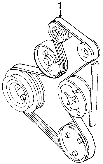 1995 volkswagen passat wagon alternator belt  doublebelt