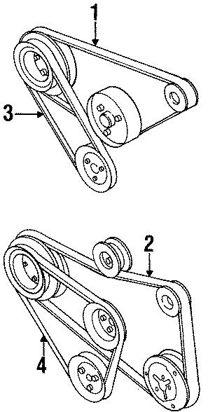 1999 volkswagen cabrio accessory drive belt power steering belt vbelt 2 0 liter w ac 4. Black Bedroom Furniture Sets. Home Design Ideas