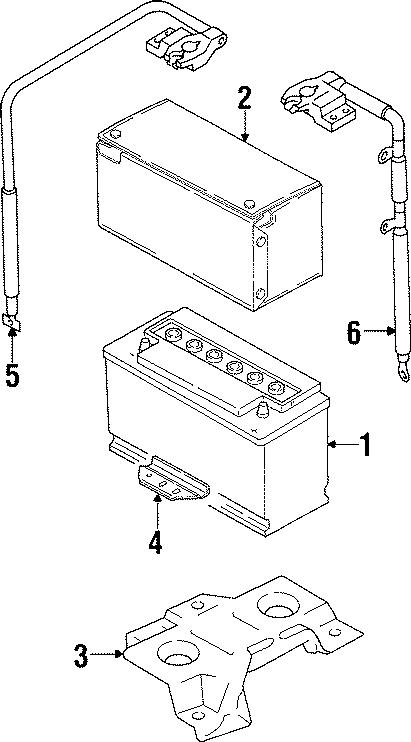 1999 volkswagen cabrio battcover battery cover amp 1h0915411c autobarn vw parts. Black Bedroom Furniture Sets. Home Design Ideas