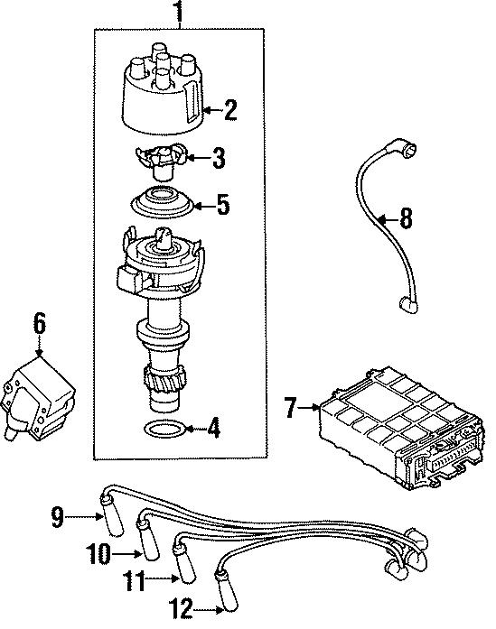 1996 Volkswagen Cabrio Ignition Coil Lead Wire. Coil ...