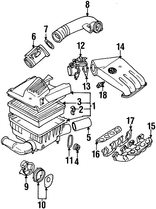 1994 Volkswagen Jetta Fuel Injection Throttle Body