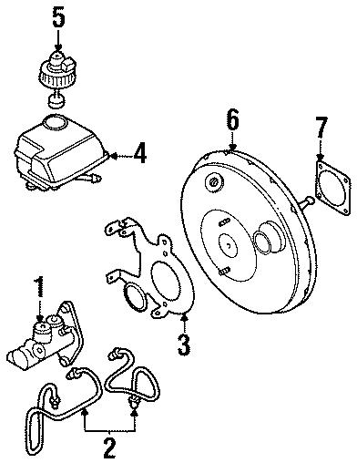 1999 volkswagen cabrio brake hydraulic line brake line components cowl 1h0698705 autobarn. Black Bedroom Furniture Sets. Home Design Ideas