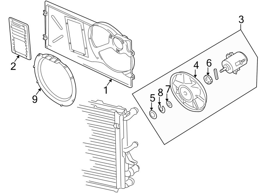 1999 volkswagen cabrio engine cooling fan blade spacer bushing inner assembly 191959473. Black Bedroom Furniture Sets. Home Design Ideas
