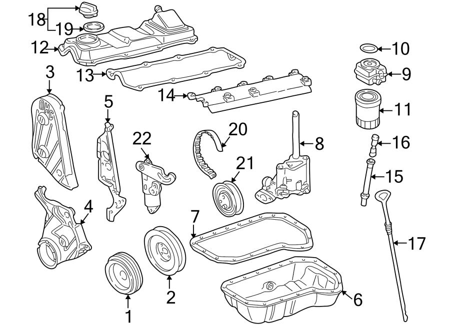 1999 Volkswagen Cabrio Engine Oil Pan  Cylinder  Bearings