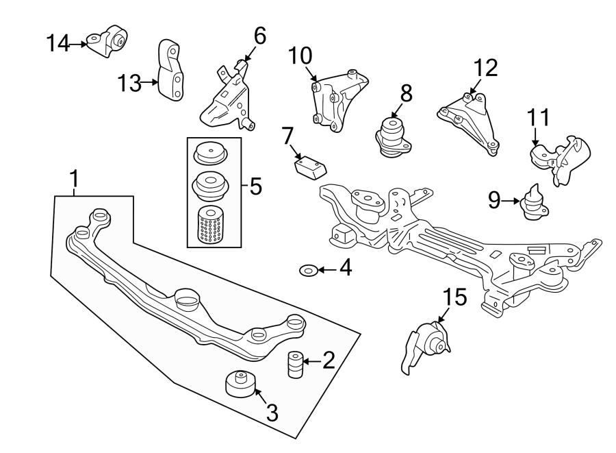 2000 Volkswagen Cabrio Manual Transmission Mount  Left