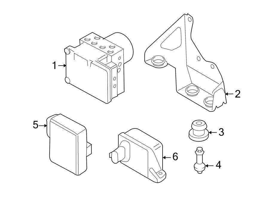 2008 volkswagen touareg abs modulator bracket lower vin. Black Bedroom Furniture Sets. Home Design Ideas