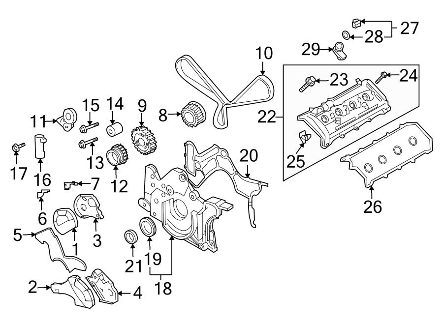 2006 Volkswagen Touareg Bolt  Engine  Belt  Timing  Tensioner  Pulley  Damper  Hexagon