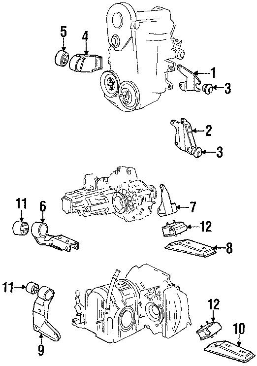 1987 Volkswagen Cabriolet Bracket  Transmission Mount