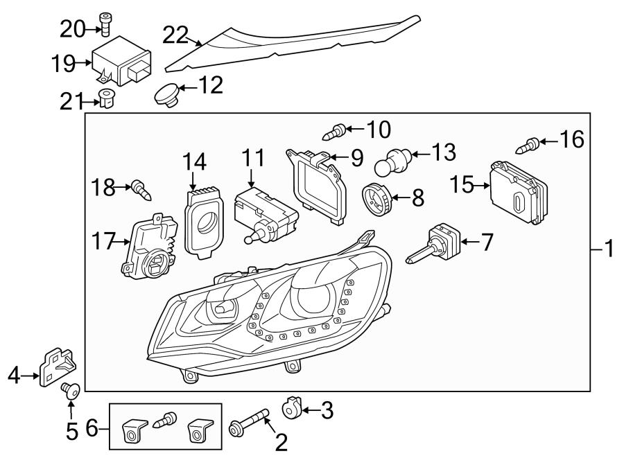 2013 volkswagen touareg headlamp assembly repair kit