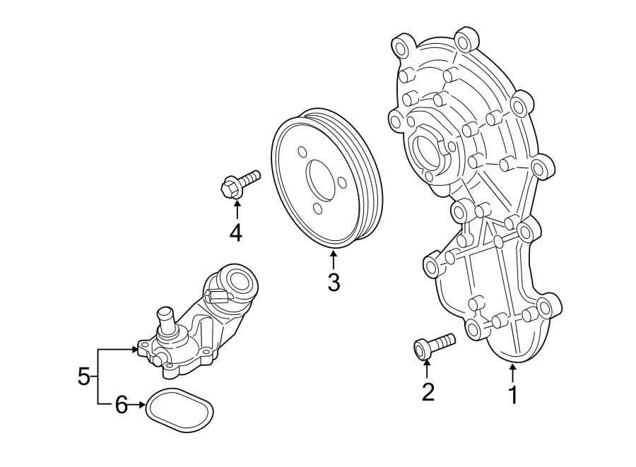 2014 volkswagen touareg engine water pump bolt  2013-16  3 0 liter diesel