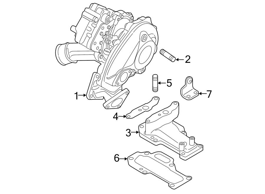 2014 volkswagen touareg turbocharger  diesel  engine  transaxle