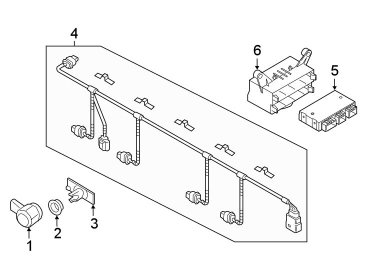 2015 volkswagen touareg bracket  sensor  inner  park  parking aid  reverse