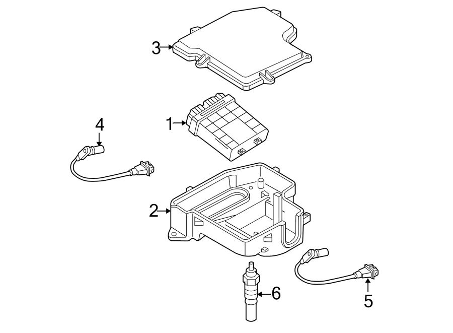 2004 Volkswagen Passat Wagon Engine Control Module  2 0