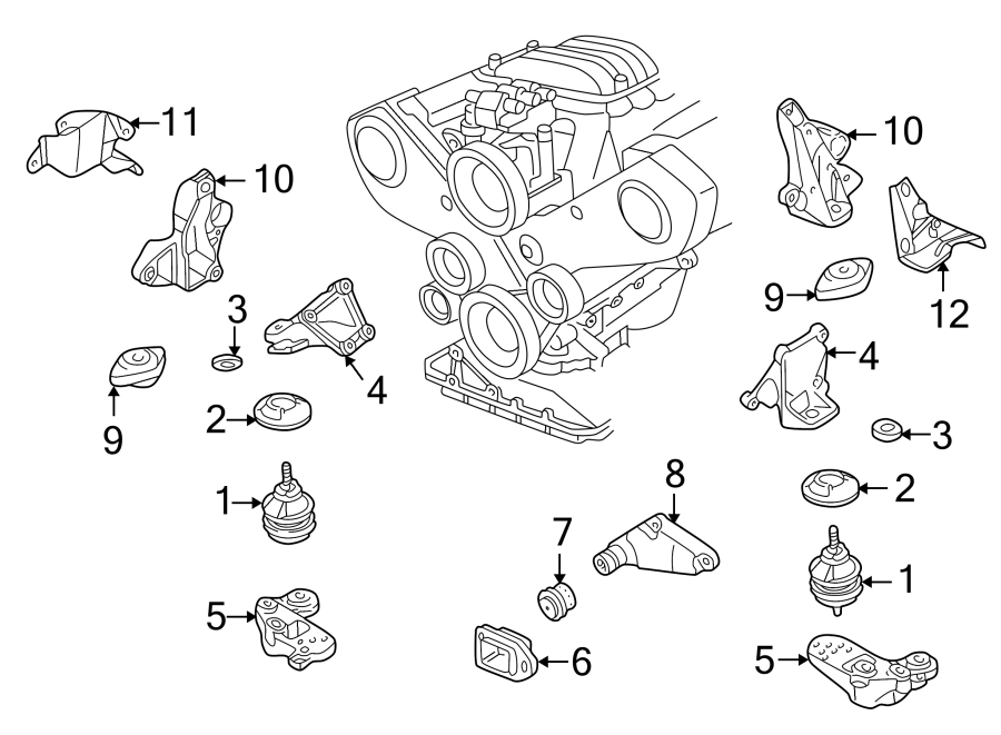 2001 Volkswagen Passat Engine Mount  Trans  Front  Liter