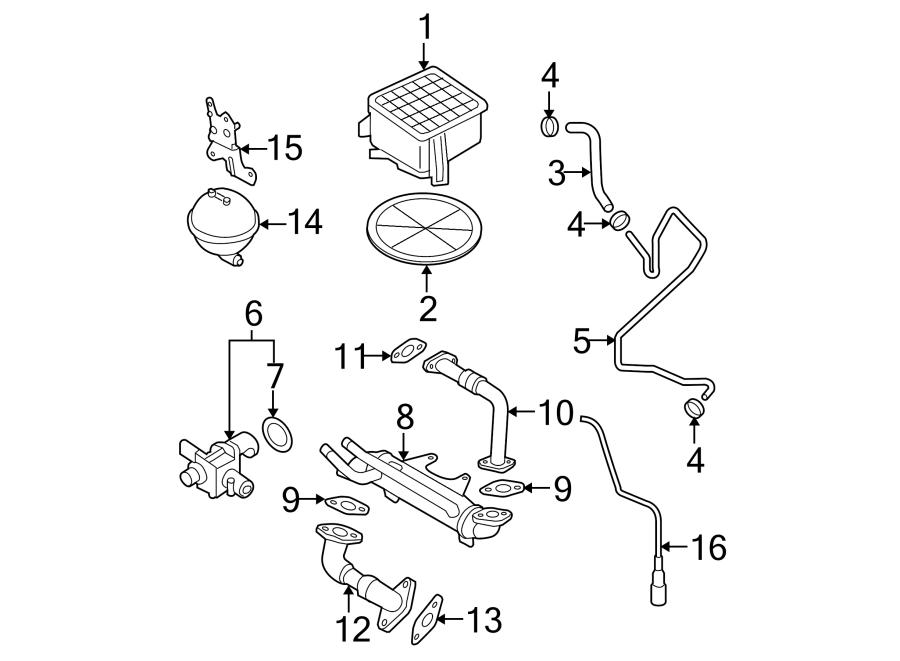 2004 Volkswagen Golf Valve  Egr  Gasket  Seal  Ring  Liter  Components  Engine