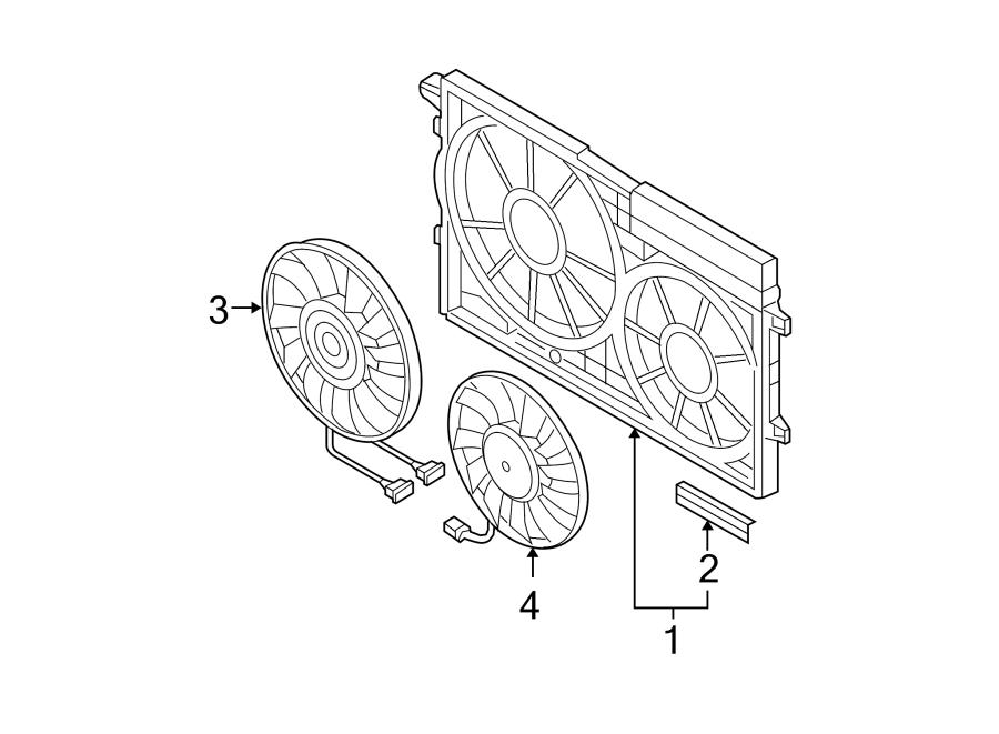 2007 Volkswagen Passat Engine Cooling Fan Motor  Left