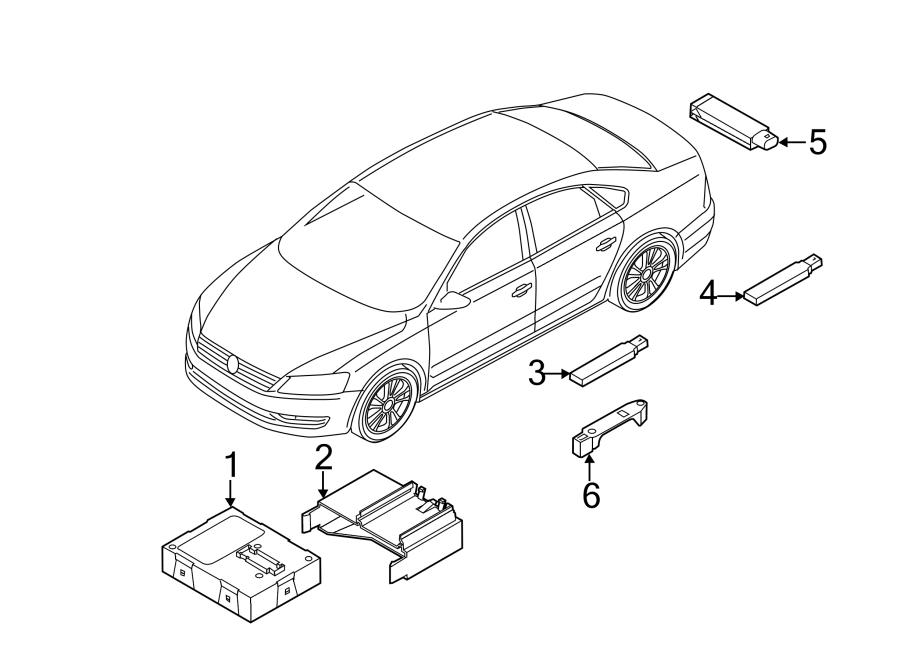 2015 volkswagen passat keyless entry antenna bracket  in rear bumper  sedan  in rear bumper