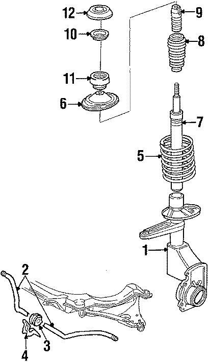 1986 Volkswagen Quantum Stop  4wd  Upper  Suspension