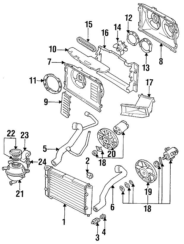 1995 volkswagen jetta engine cooling fan blade  cylinder  wac  liter