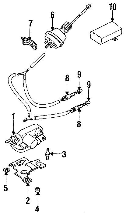 1999 Volkswagen Jetta Cruise Control Vacuum Pump  Actuator