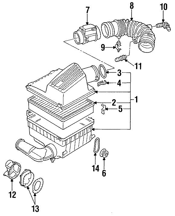 1999 volkswagen jetta air mass sensor  air meter  mass air flow sensor  liter  cylinder  engine