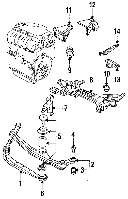 1994 Volkswagen Jetta Mount Bracket  Side Bracket   Rear