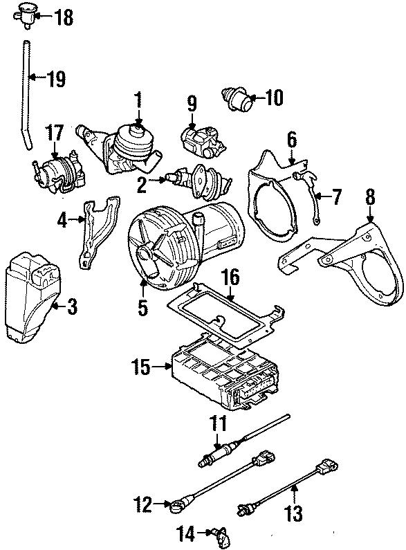 1994 volkswagen jetta vapor canister bracket  federal  emission  liter  system