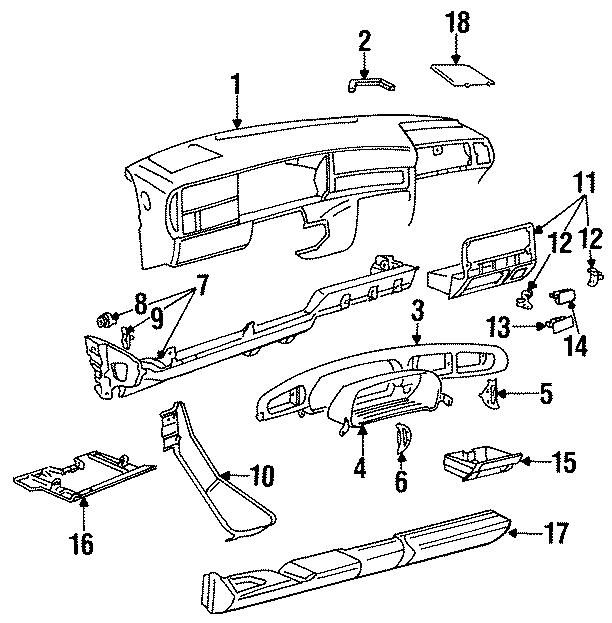 1993 volkswagen jetta instrument panel trim panel  fuse box cover  instrument panel trim panel