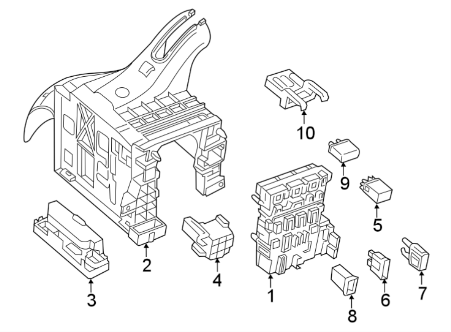 2015 volkswagen jetta circuit breaker  main fuse  maxi fuse  compartment  amp  blade