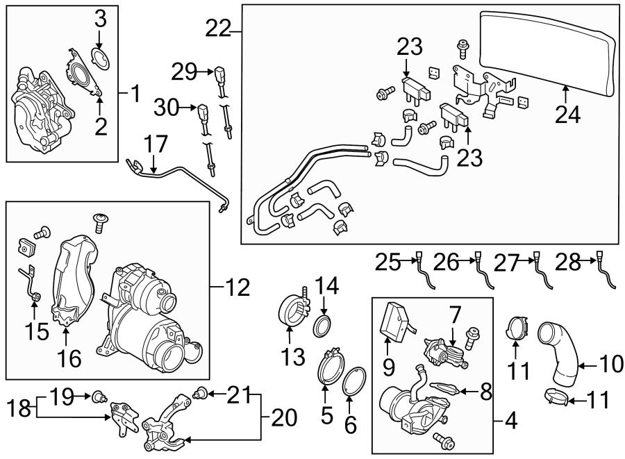 2015 volkswagen golf clip  cooler assembly clamp  egr cooler clamp  2015  exhaust cooler