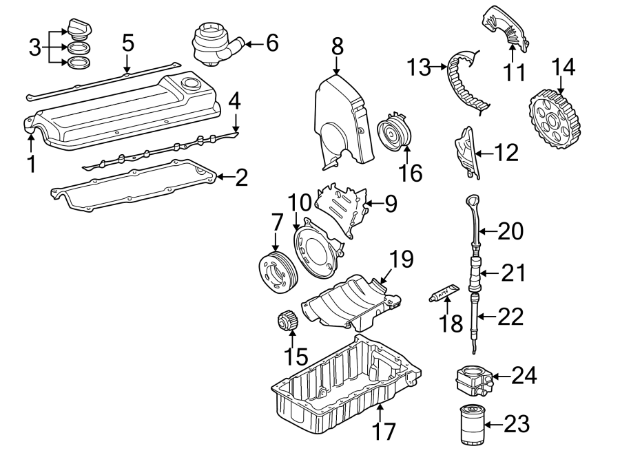 2001 volkswagen golf engine crankcase vent valve  breather  engine crankcase vent valve  2 0