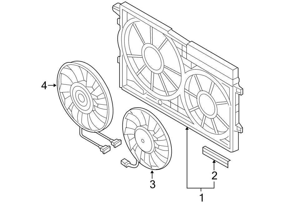 2006 volkswagen jetta engine cooling fan motor  temic