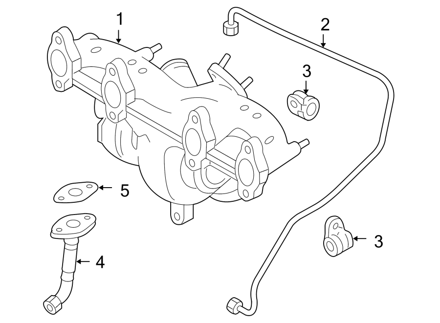 2006 Volkswagen Jetta Turbocharger Oil Line