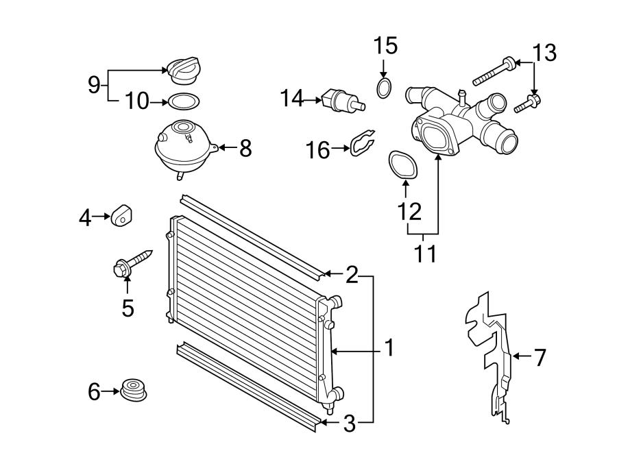 2012 Volkswagen Sportwagen Cooling System Bypass Line