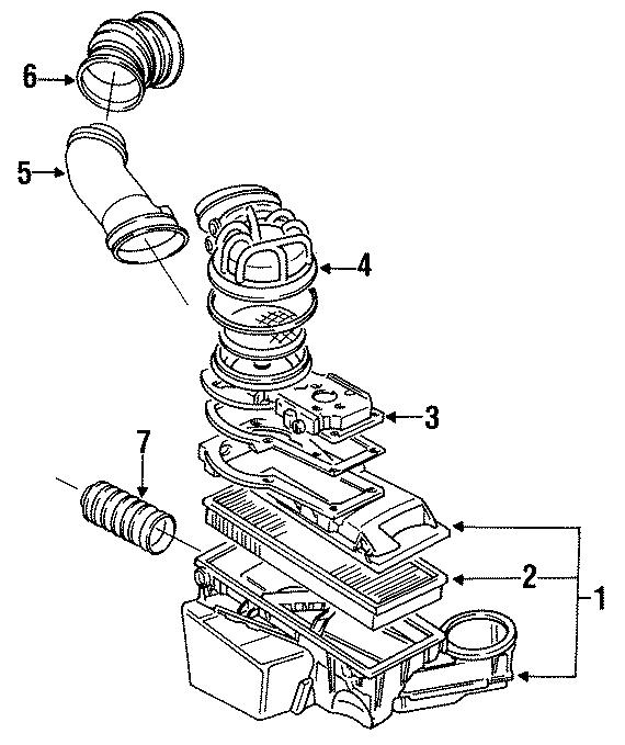 1991 volkswagen golf air filter  liter  cylinder  engine