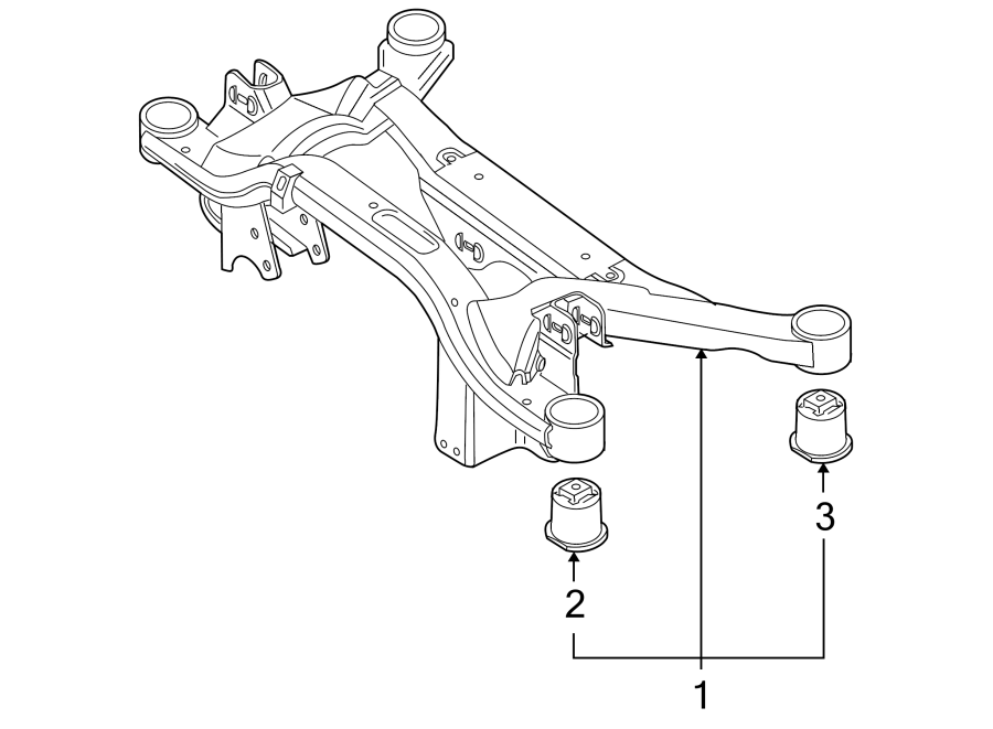 2008 volkswagen r32 suspension crossmember insulator  front  rear   model  left  right