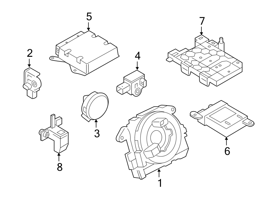 2015 volkswagen gti air bag control module  modules  u0026 sensors  bags  door  pre