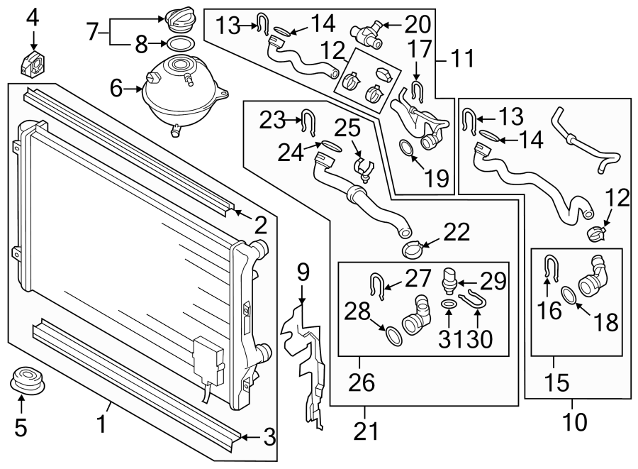 2012 volkswagen jetta gli radiator  bracket  mount  audi