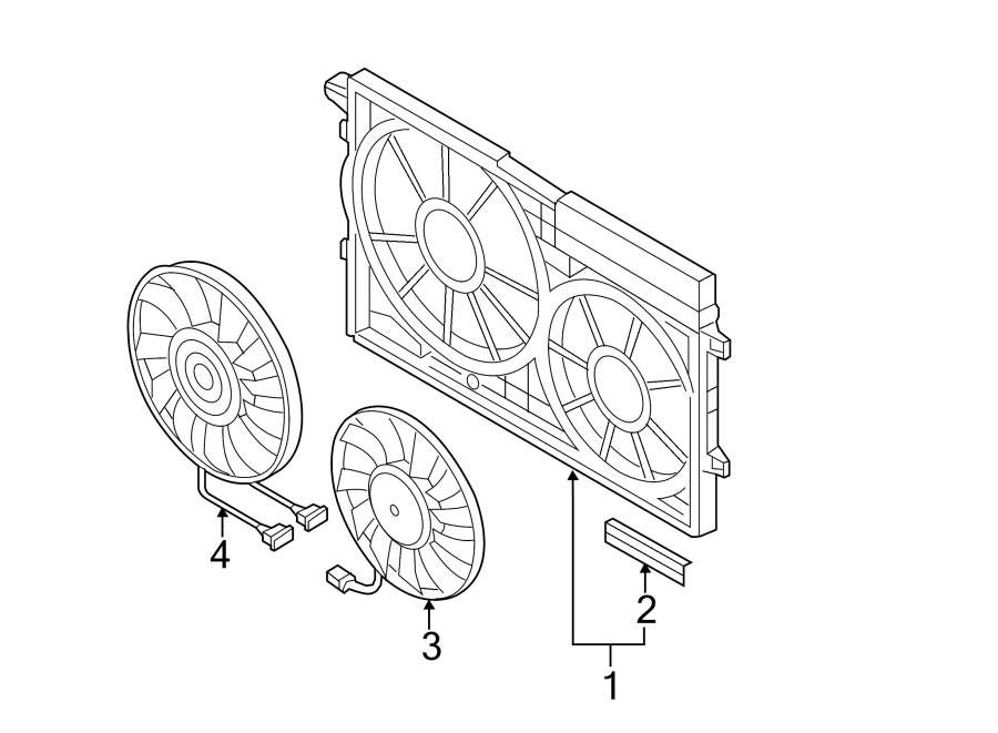 2013 Volkswagen Jetta Engine Cooling Fan Motor  Right  Liter  Siemens