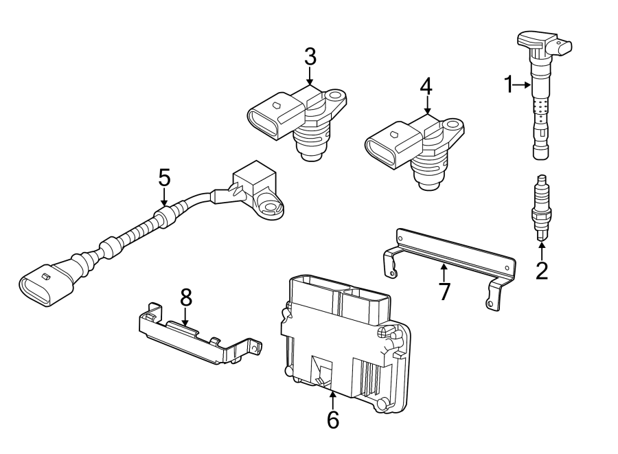 2013 volkswagen jetta contour  unit  ecm  engine control
