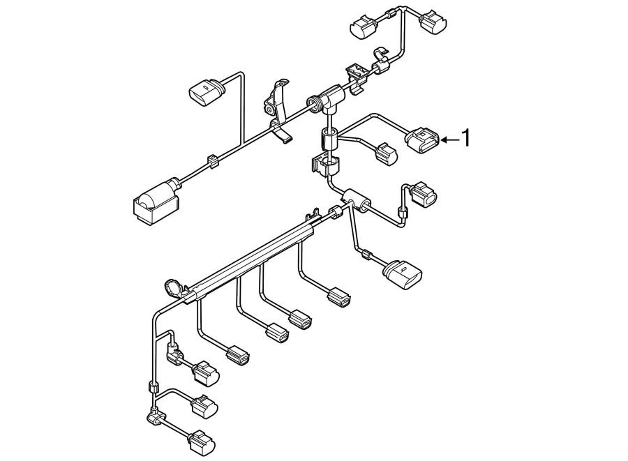 2014 volkswagen jetta engine wiring harness  2 0 liter