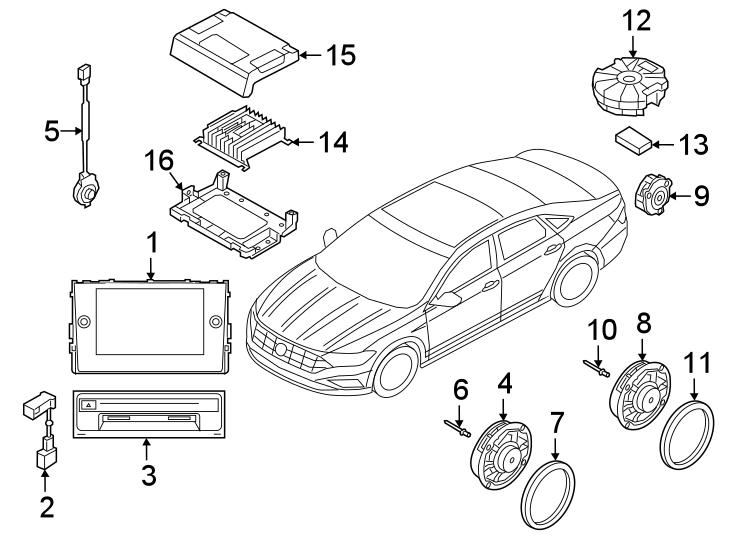 2019 Volkswagen Jetta Gli Speaker Gasket  Front  Rear
