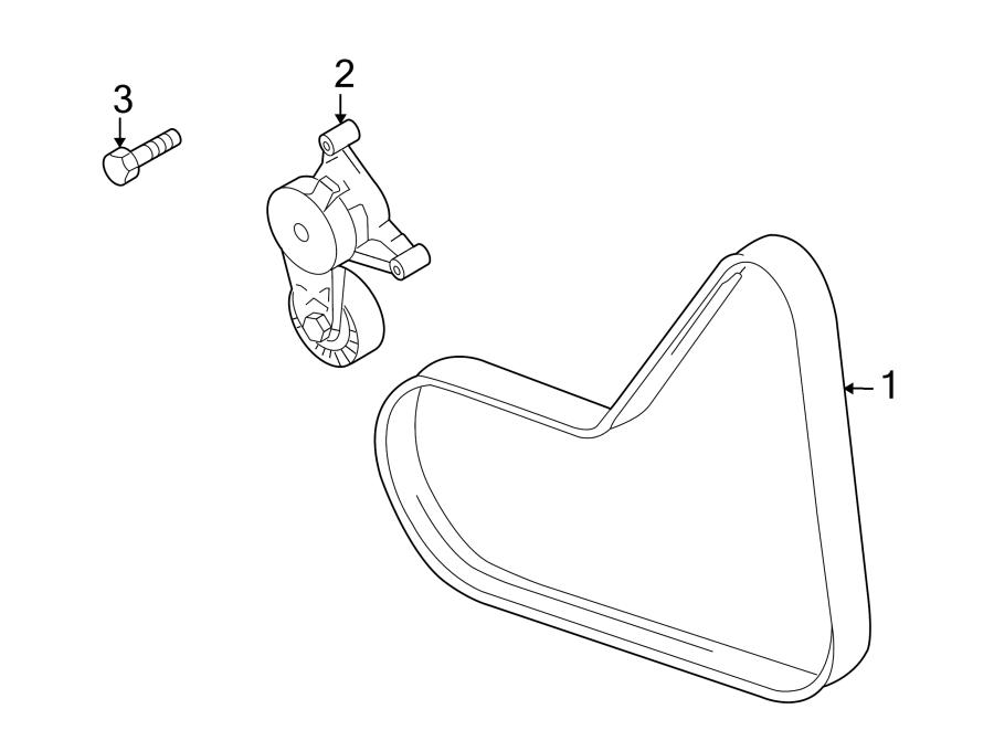 2008 volkswagen eos accessory drive belt tensioner assembly  serpentine tensioner  assembled