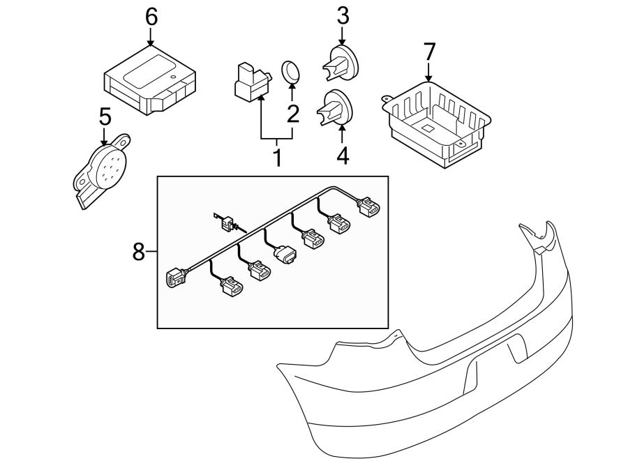 2005 volkswagen jetta parking aid system speaker  reverse