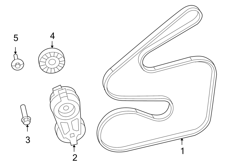 2010 volkswagen routan accessory drive belt idler pulley. Black Bedroom Furniture Sets. Home Design Ideas